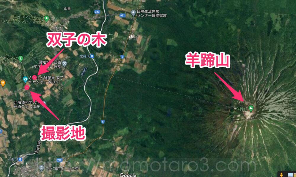 さくらんぼの木地図