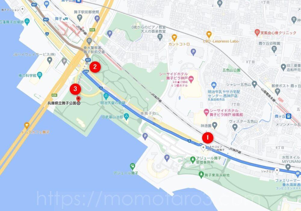 明石海峡大橋の地図