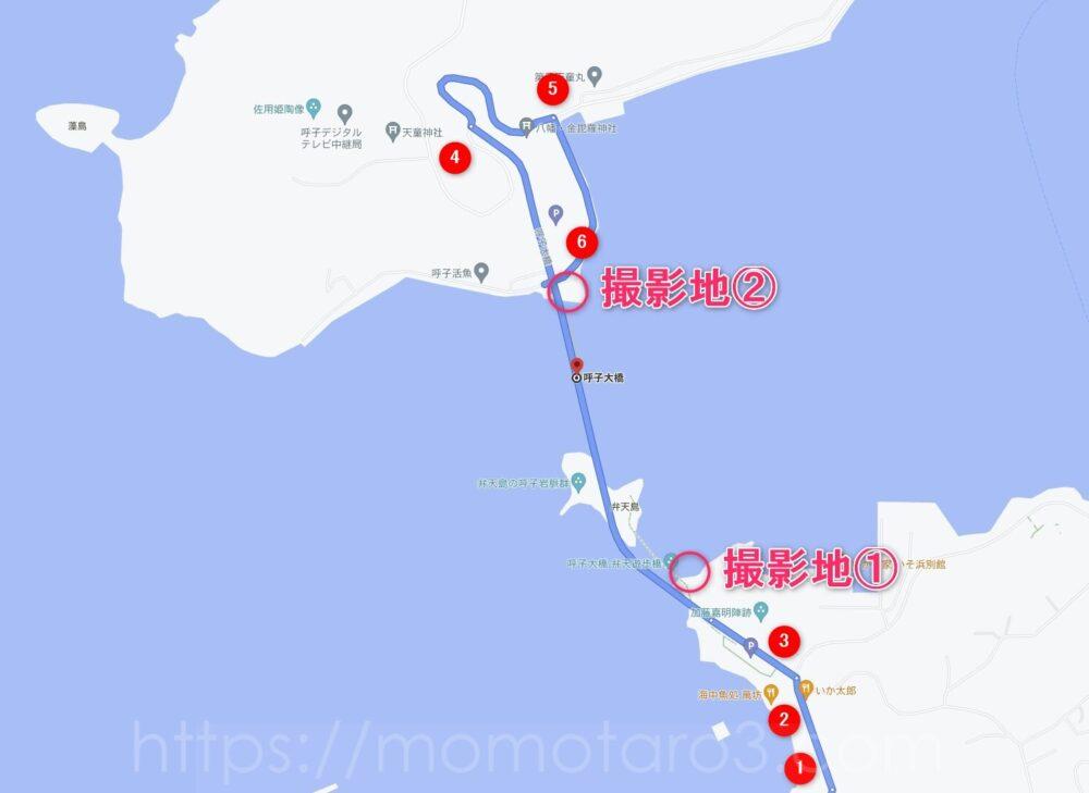 呼子大橋の地図